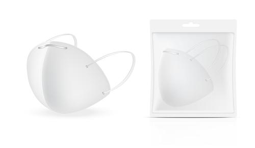 Packaging n95 mask vector