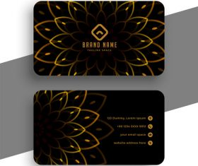 Petal background business card vector