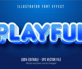 Playful cartoon style 3D editable vector