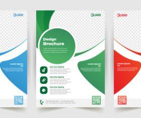 Polygonal business poster banner vector