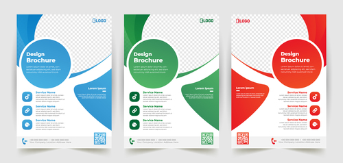 Polygonal business poster banner vector