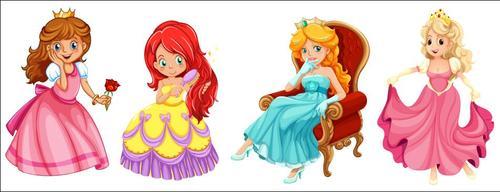 Princess cartoon character vector
