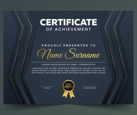 Professional certificate cover vector
