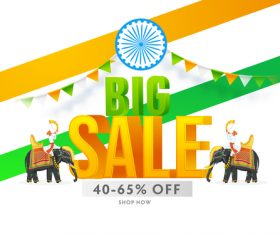 Promotion indian festival card vector
