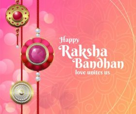 Raksha bandhan festival greeting card vector