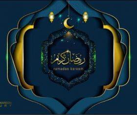 Ramadan Kareem in luxury style with arabic calligraphy vector