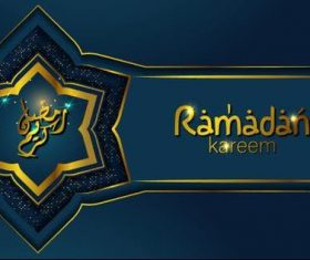 Ramadan Kareem in with arabic calligraphy vector