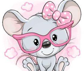 Rat cute cartoon vector