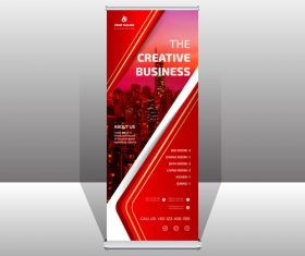 Red business banner vector