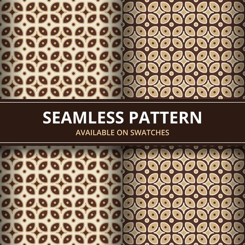 Seamless batik pattern vector