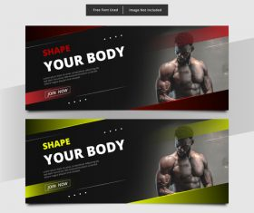 Shape your body banner vector