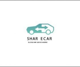 Share and exchange cars logo vector