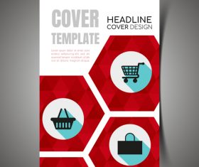 Shopping cover template vector