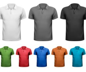 Short sleeve t-shirts different colors vector