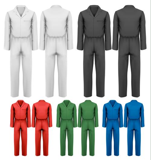 Siamese overalls vector