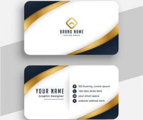 Simple business card design vector