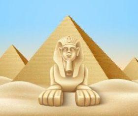 Sphinx background vector