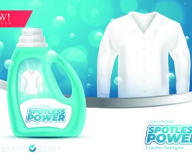 Spotless power advertising vector