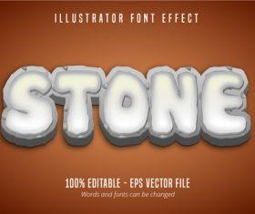 Stone text editable font vector