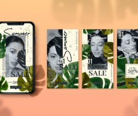 Summer sale smartphone cover design vector