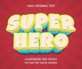 Super hero done editable font effect text vector