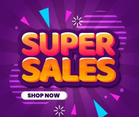 Super sales vector