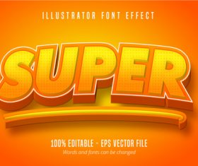 Super text 3D editable font vector
