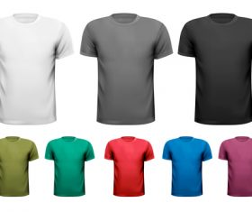 T-shirts different colors vector