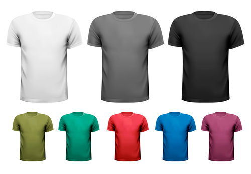 T shirts different colors vector