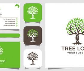 Tree business card logo vector