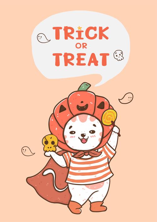 Trick or treat cartoon vector