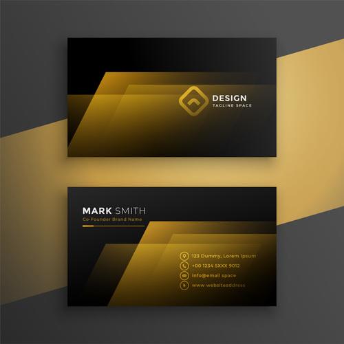 twocolor background business card design vector free download