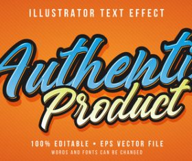 Two-color editable font effect text illustration vector