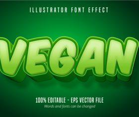 Vegan text editable font vector