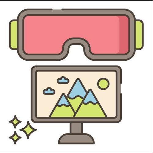 Virtual Field Trip vector