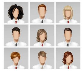 Wear a tie business male and female face vector