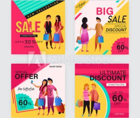 Weekend sale poster design template vector