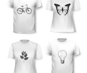 White t-shirts vector
