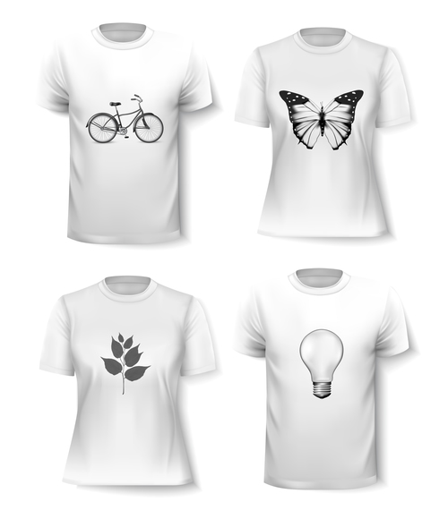 White t shirts vector