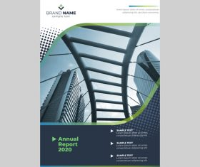2020 annual report cover flyer vector