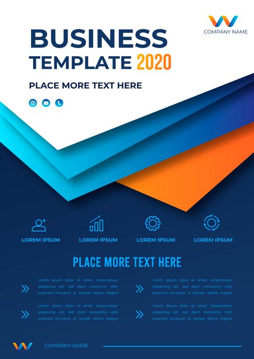 2020 business brochure template vector