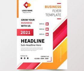 2021 business flyer design template vector