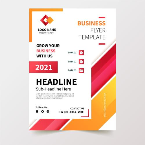 2021 business flyer design template vector