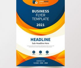 2021 color business flyer design vector