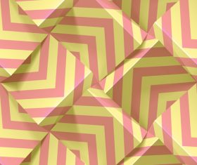 3D abstract background geometric pattern vector