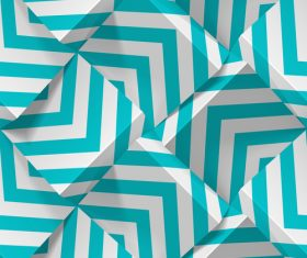 3D abstract cubes realistic geometric pattern vector