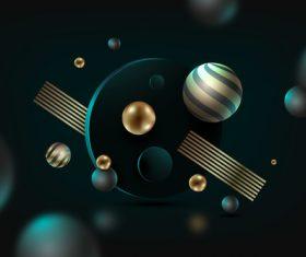 3D graphics background vector