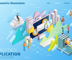 3D isometric illustration vector