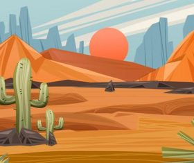 A little green in the desert vector