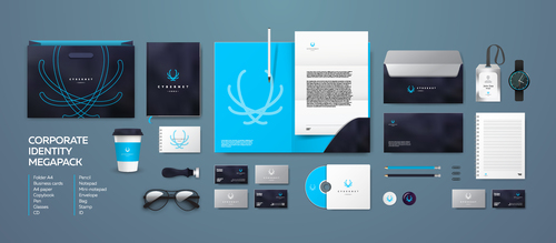 Abstract corporate branding identity template vector